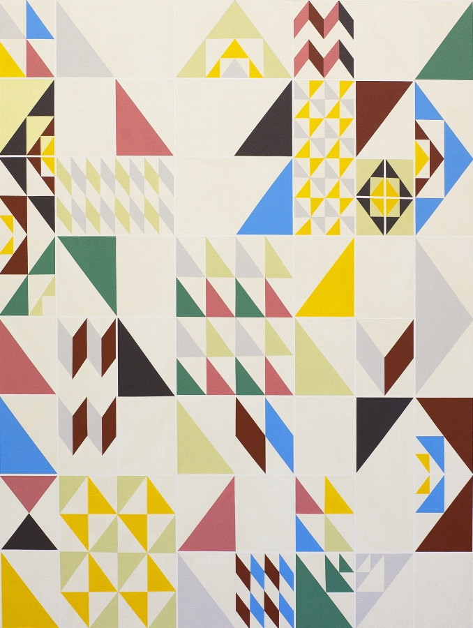 Via Paradiso , 2016, acrylic on canvas, 40 x 30 inches, $3800.