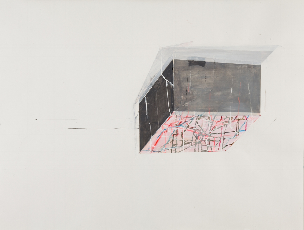 House Float no. 2 , 2014, mixed media on paper, 38.5 x 50.5 inches (unframed), $3600. (unframed)