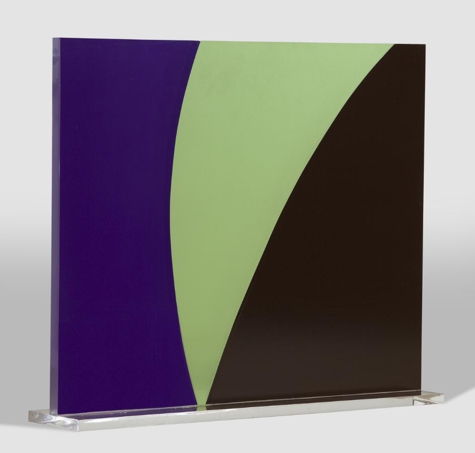 WINK , 2015, vinyl on Plexiglas, 13 x 15 x 3.5 inches, $5000.