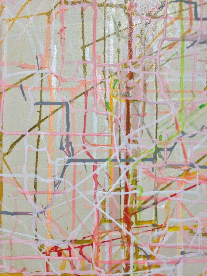 Back Up  (detail), 2015, acrylic on canvas, 54 x 44 inches, $6700.
