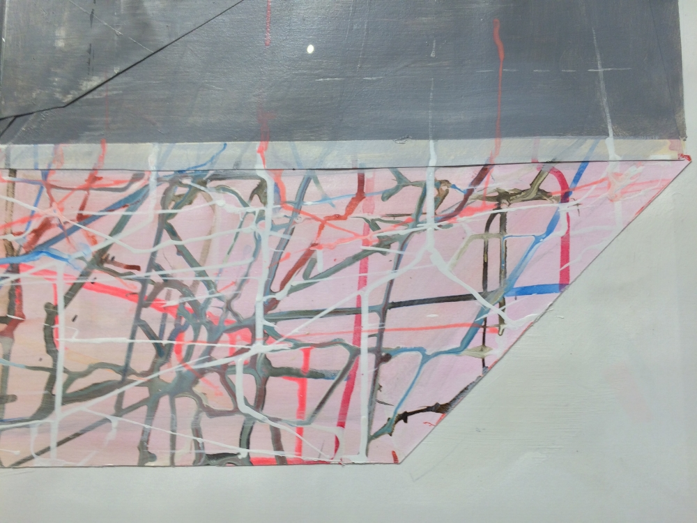 House Float no. 2  (detail), 2014, mixed media on paper, 38.5 x 50.5 inches (unframed), $3600. (unframed)