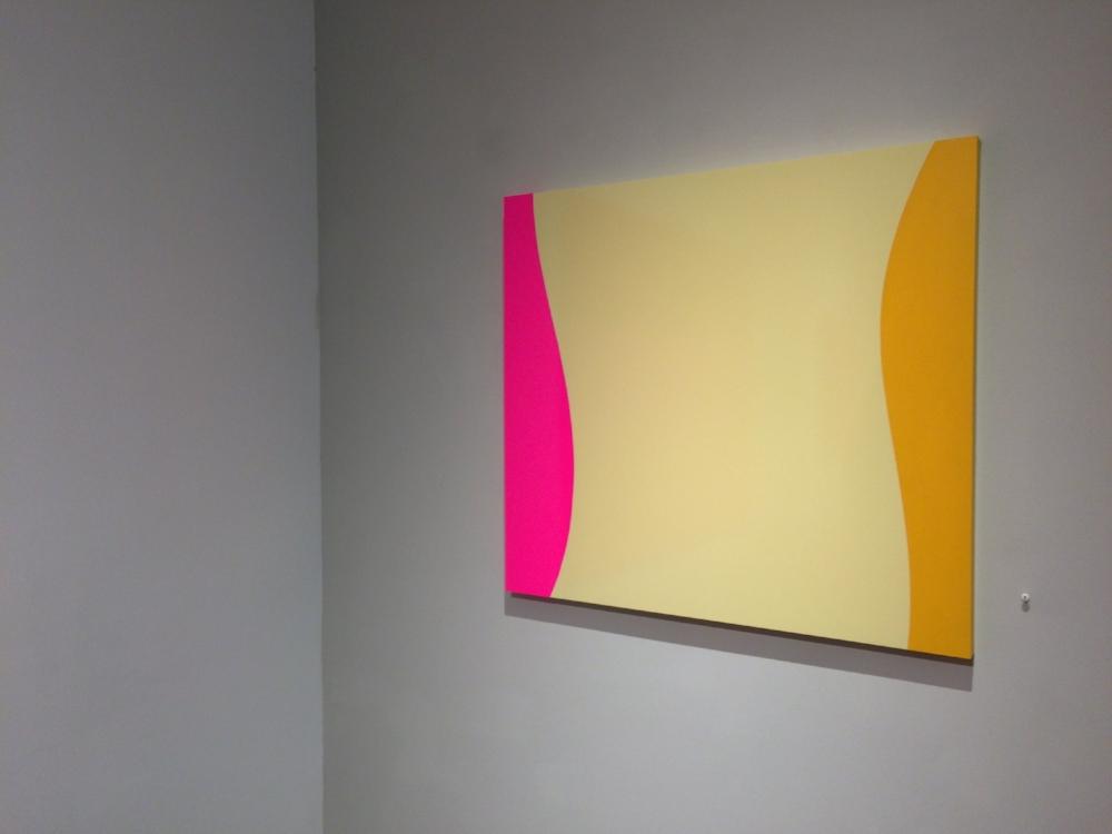 SUIT  (installation view), 2015, vinyl on Plexiglas, 22 x 24 inches, $7500.