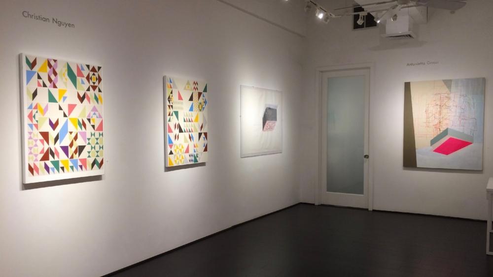 Installation view alongside artwork by Antonietta Grassi