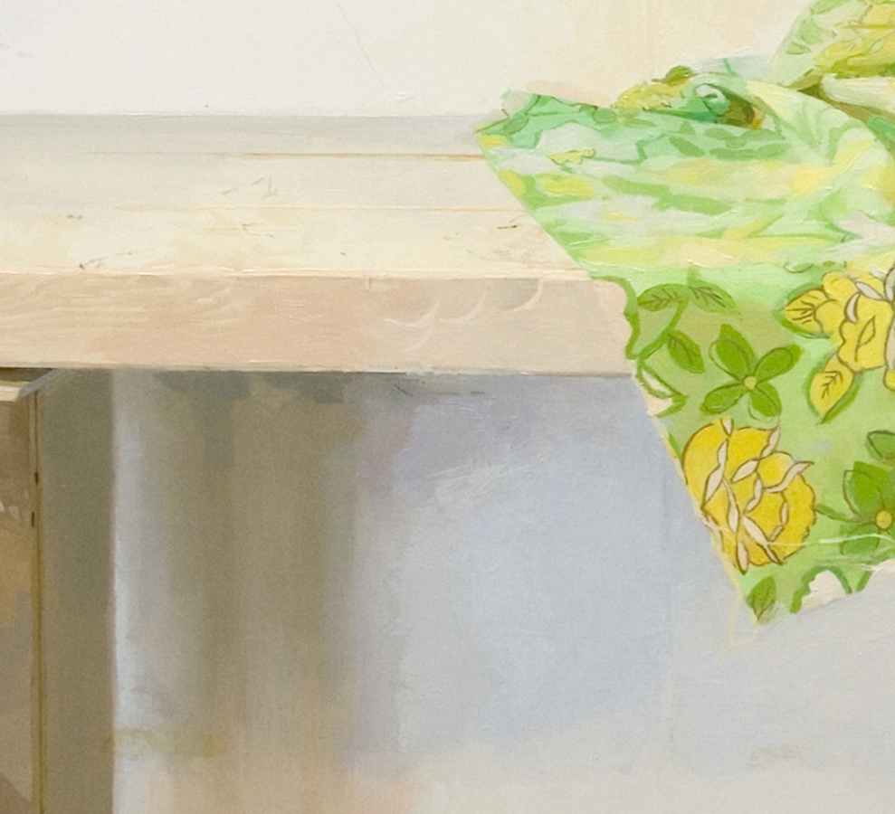 Fragment (Spring Painting)  (detail), 2011, oil on panel, 23.5 x 35.5 inches, $4500.