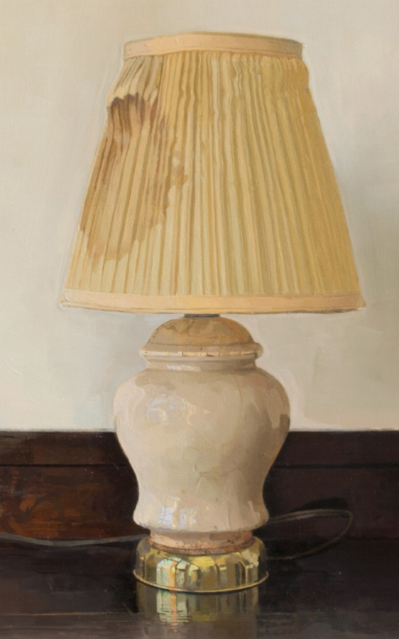 Lamp Revisited  (detail), 2015, oil on panel, 40 x 30 inches, $6000.