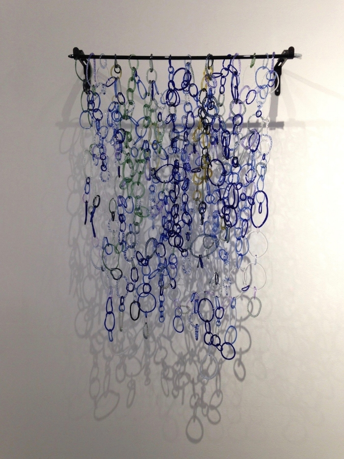 Bagby Springs , 2014, torch-worked borosilicate glass, 27 x 20.25 x 2 inches, $4200. (sold)