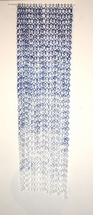 Blue Fade , 2014, torch-worked borosilicate glass, 50 x 20 inches, $6000. (sold)