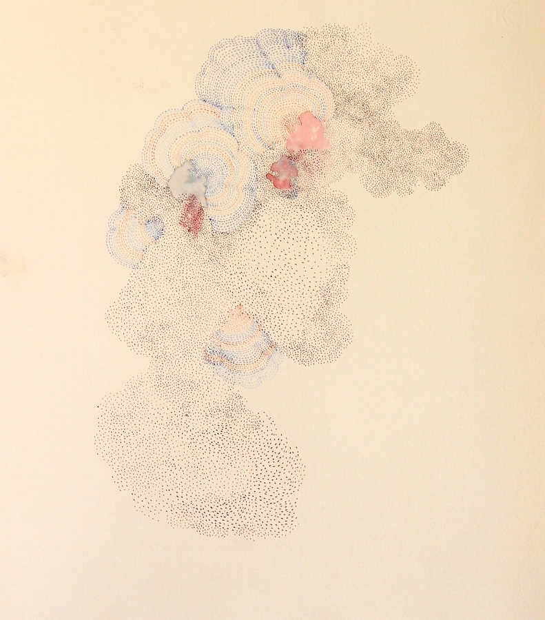 Nebula , 2014, ink and colored pencil on paper, 13.25 x 11.75 inches (unframed), $800. (unframed)