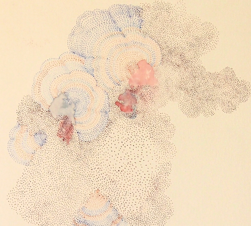 Nebula  (detail), 2014, ink and colored pencil on paper, 13.25 x 11.75 inches (unframed), $800. (unframed)