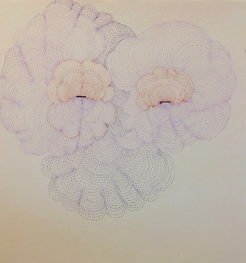 Cloudface , 2014, ink and colored pencil on paper, 14 x 13.5 inches (unframed), $800. (unframed)