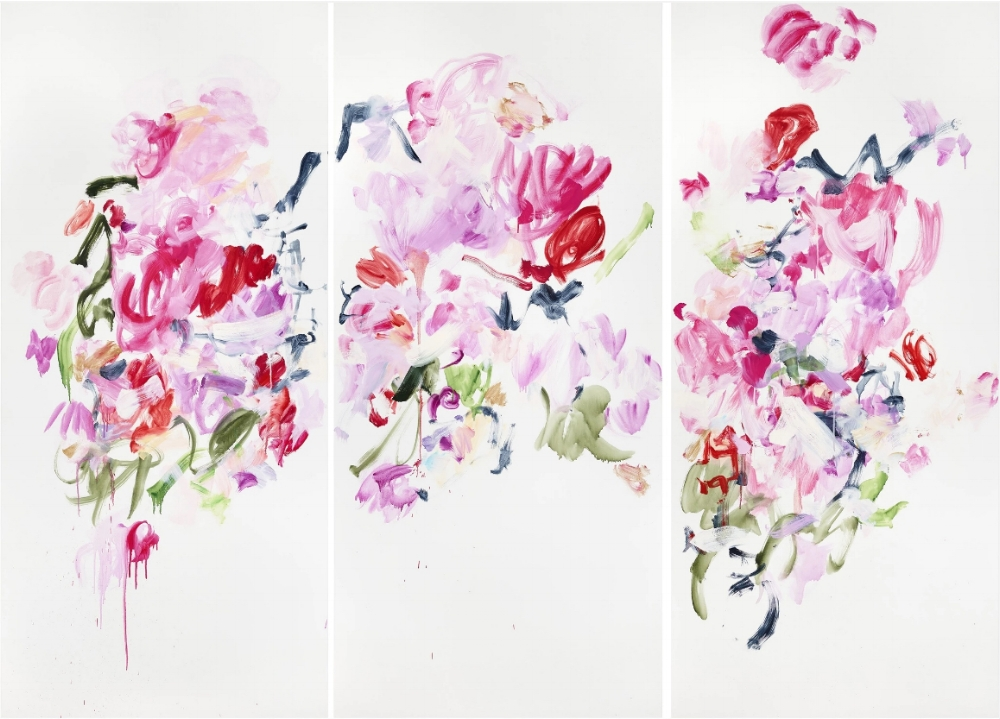There is Only the Dance , 2015, oil on canvas, 70 x 96 inches (triptych), $20,000.
