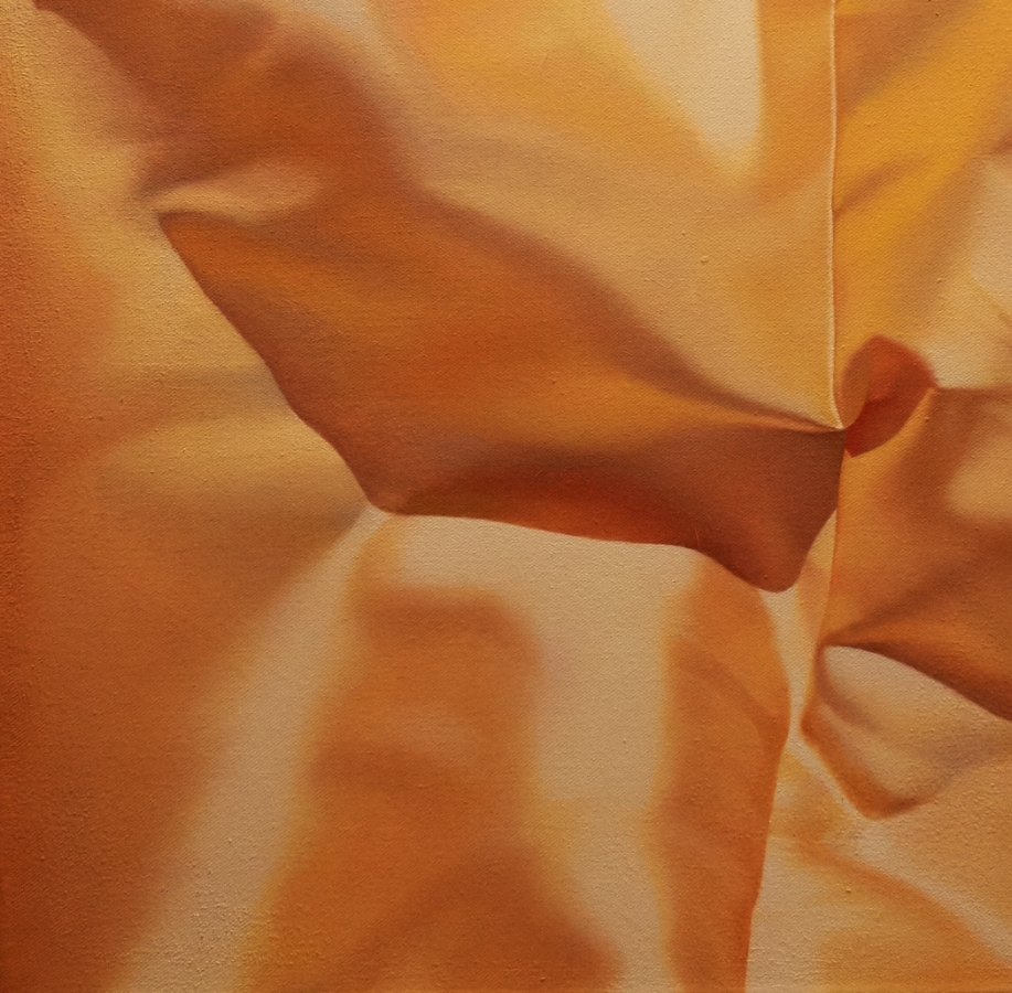 Yellow Series No. 5  (detail), 2017, oil on canvas, 28 x 24 inches, $4800.