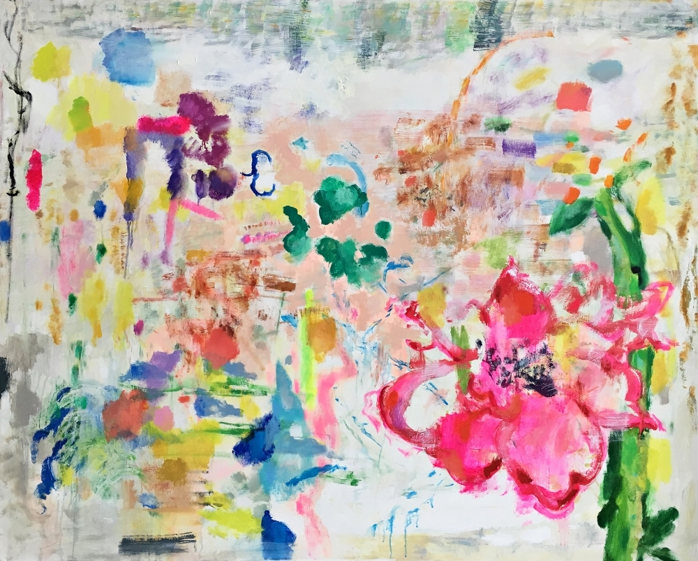 Melanie Parke,  Land of the Lotus Eaters , oil on canvas, 48 x 60 inches, $8000.