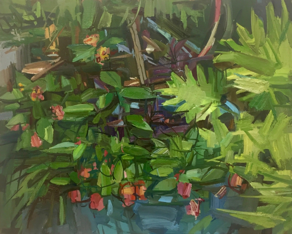 Spring Garden II , 2017, oil on linen, 16 x 20 inches, $2800. (framed)