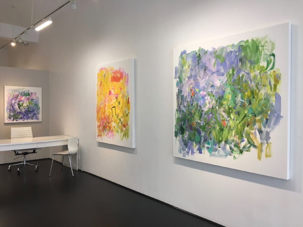 Installation view,  A Verdant Heart  solo exhibition, Fall 2017