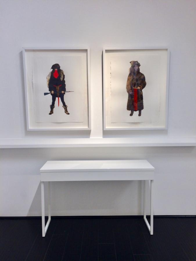 Installation view,  June Glasson - New Work  solo exhibition, Fall 2017