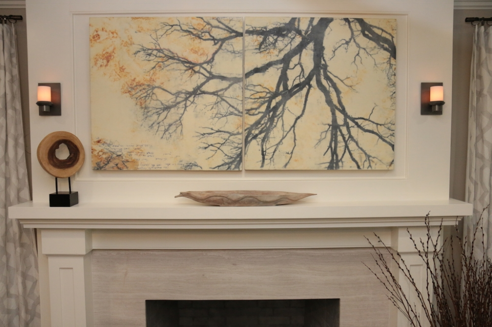 Installation view,  Branches  (sold), HGTV Property Brothers 2015, Season 5, Episode 7, design by Kim Mitchell of KAM Design