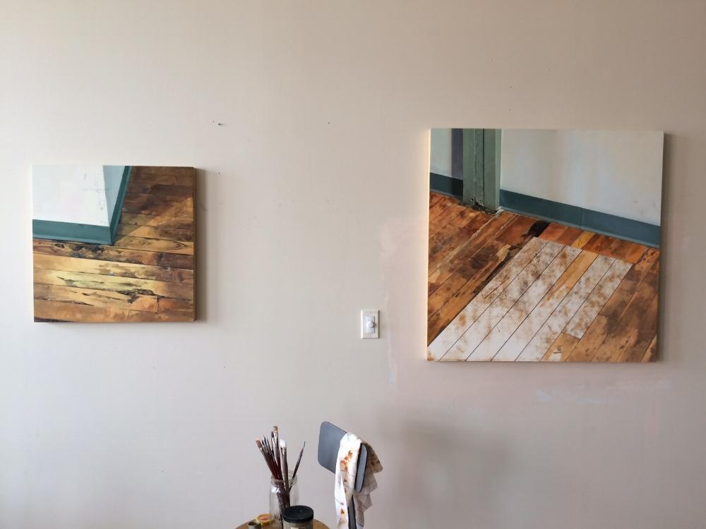 Brett Eberhardt's studio in Providence, Rhode Island
