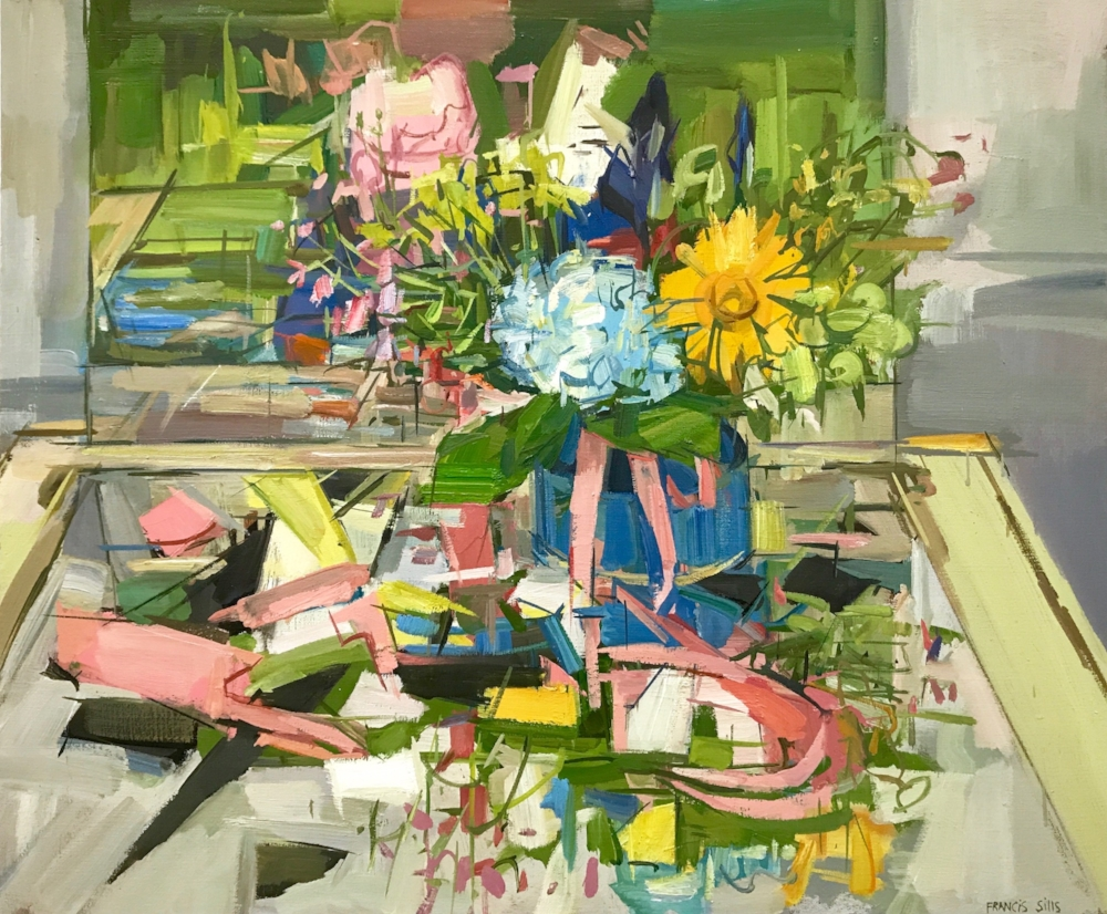 Floral Still Life II , 2017, oil on linen, 20 x 24 inches, $$3600. (framed)