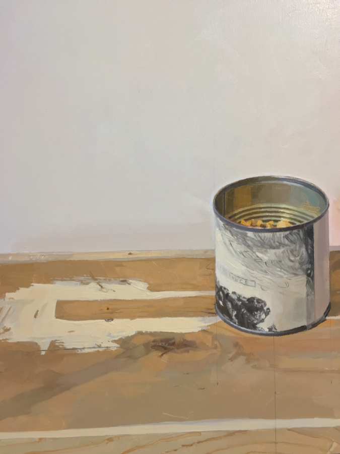 Rembrandt Canister  (detail), 2015, oil on panel, 23 x 16 inches, $3500.