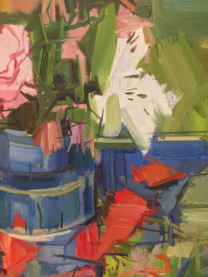 Floral Still Life  (detail), 2017, oil on linen, 20 x 24 inches, $3600. (framed)