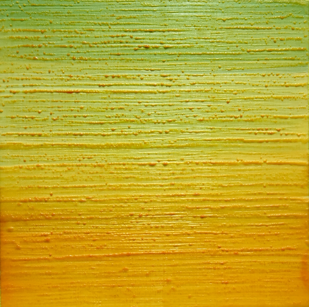 Silk Road 252 , 2015, encaustic (pigmented beeswax) on panel, 12 x 12 inches, $2400.
