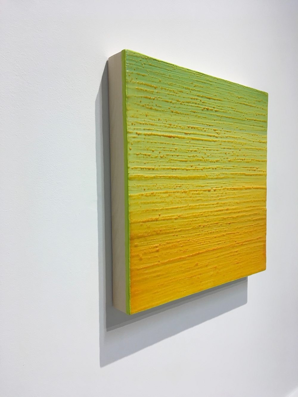 Silk Road 252  (side view), 2015, encaustic (pigmented beeswax) on panel, 12 x 12 inches, $2400.