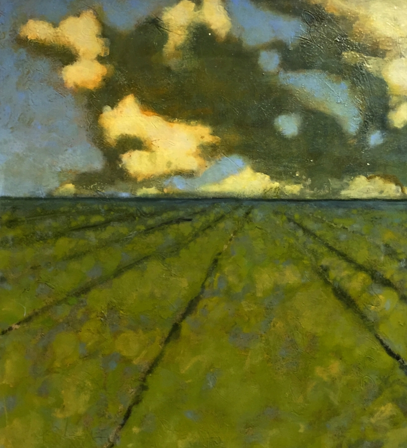 June Field , 2015, oil on canvas, 24 x 22 inches (unframed), 25.75 x 23.75 inches (framed), $3500. (framed)