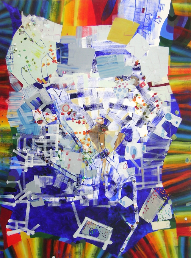 Heart Throb , 2017, oil on canvas, 48 x 36 inches, $6500.
