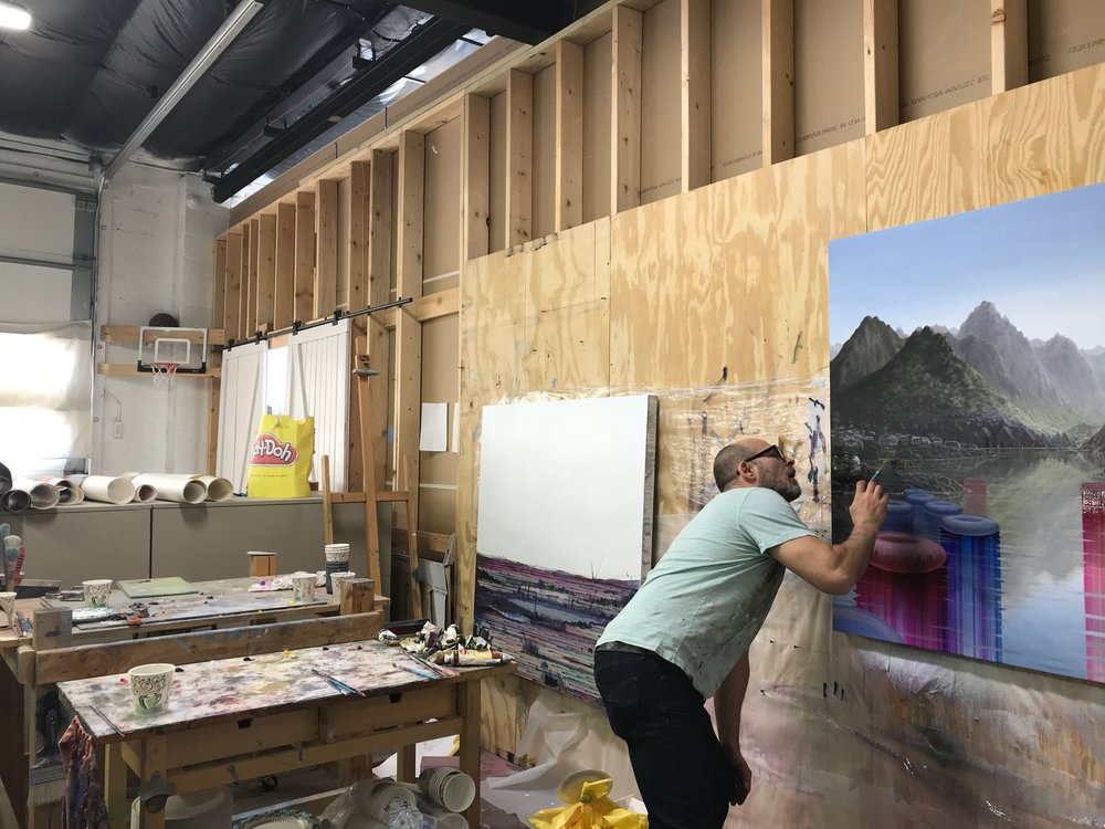 Shane McAdams in his studio