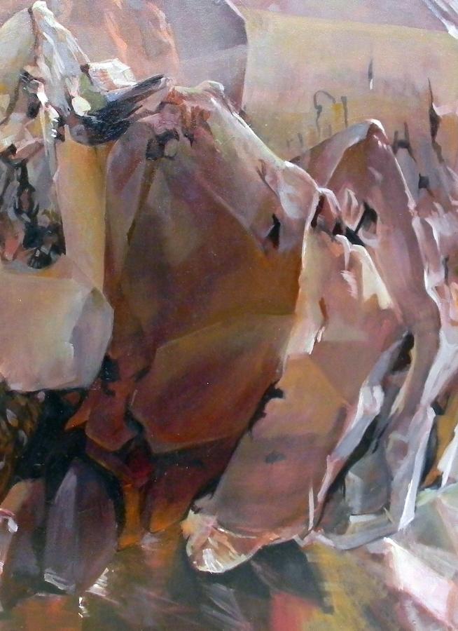 Shawangunk Krustallos Lutum  (detail), 2018, oil on canvas, 30 x 30 inches, $5000. (each), $9000. (two), $13,500. (three), $17,000. (four)