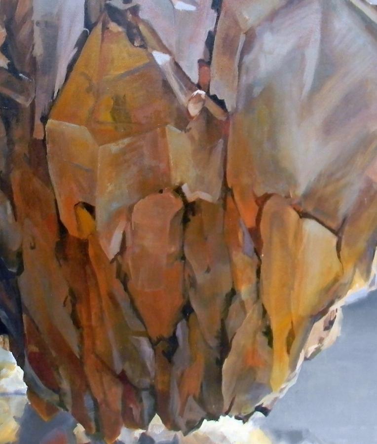 Shawangunk Krustallos Mavros  (detail), 2018, oil on canvas, 30 x 30 inches, $5000. (each), $9000. (two), $13,500. (three), $17,000. (four)