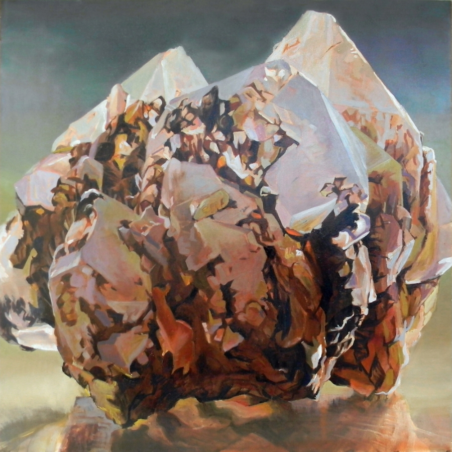 Shawangunk Krustallos Prásinos , 2018, oil on canvas, 30 x 30 inches, $5000. (each), $9000. (two), $13,500. (three), $17,000. (four)