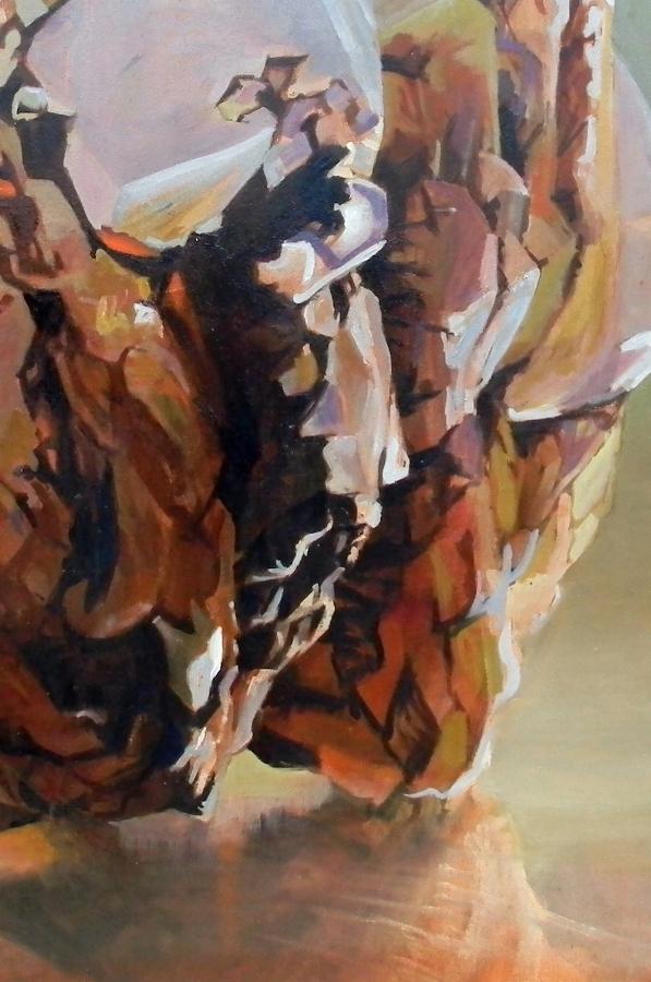 Shawangunk Krustallos Prásinos  (detail), 2018, oil on canvas, 30 x 30 inches, $5000. (each), $9000. (two), $13,500. (three), $17,000. (four)