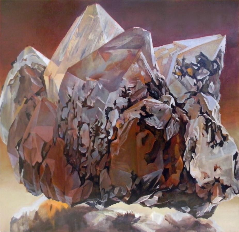 Shawangunk Krustallos To Kokkino , 2018, oil on canvas, 30 x 30 inches, $5000. (each), $9000. (two), $13,500. (three), $17,000. (four)