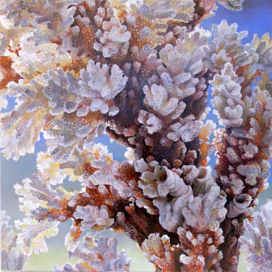 Serpulae Occultatum , 2018, oil on canvas, 40 x 40 inches, $5000.