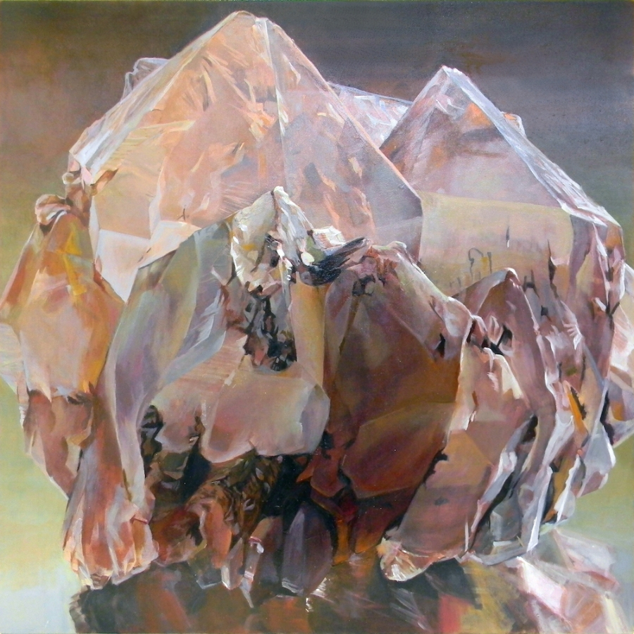 Shawangunk Krustallos Lutum , 2018, oil on canvas, 30 x 30 inches, $5000. (each), $9000. (two), $13,500. (three), $17,000. (four)