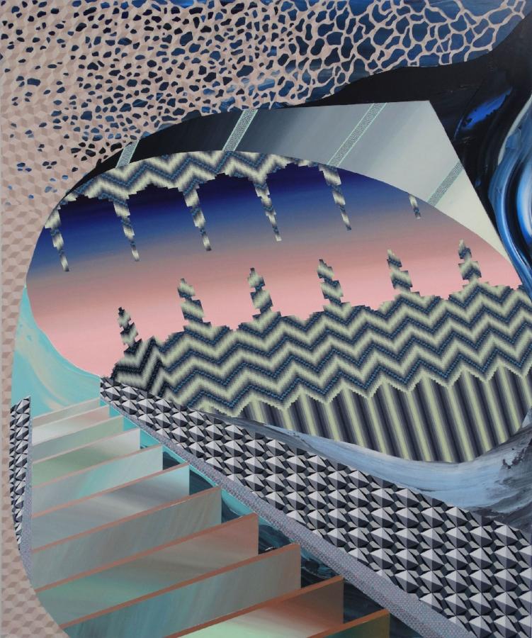 Terraform, 2016, acrylic on panel, 36 x 30 inches, $5200.