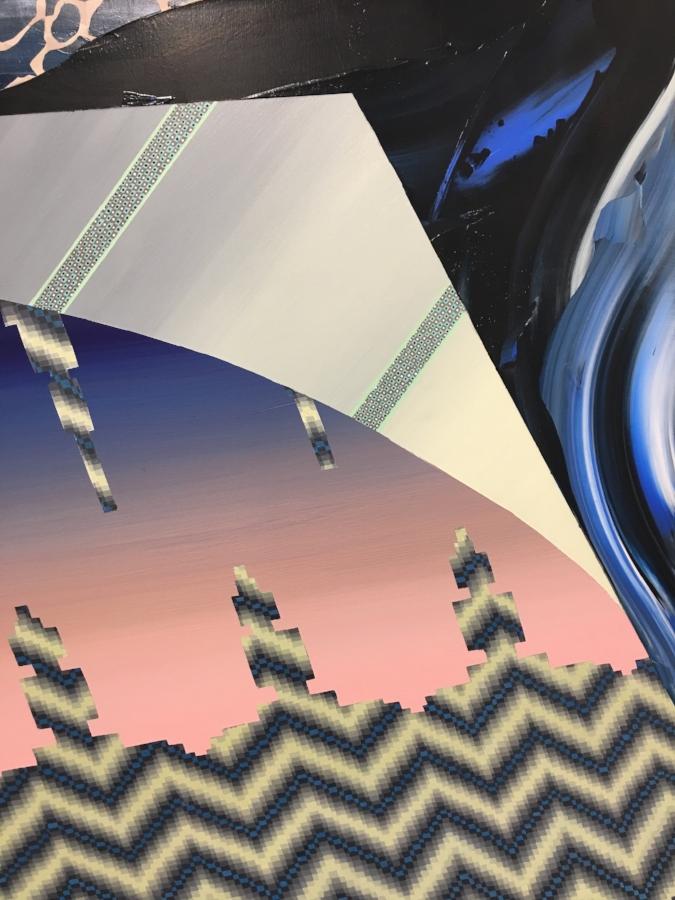 Terraform (detail), 2016, acrylic on panel, 36 x 30 inches, $5200.