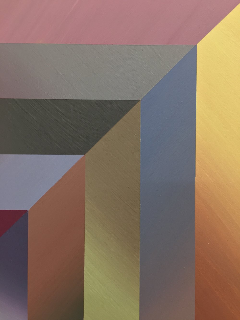 Beyond the Horizon II  (detail), 2018, acrylic and flashe on panel, 18 x 18 inches, $2500.