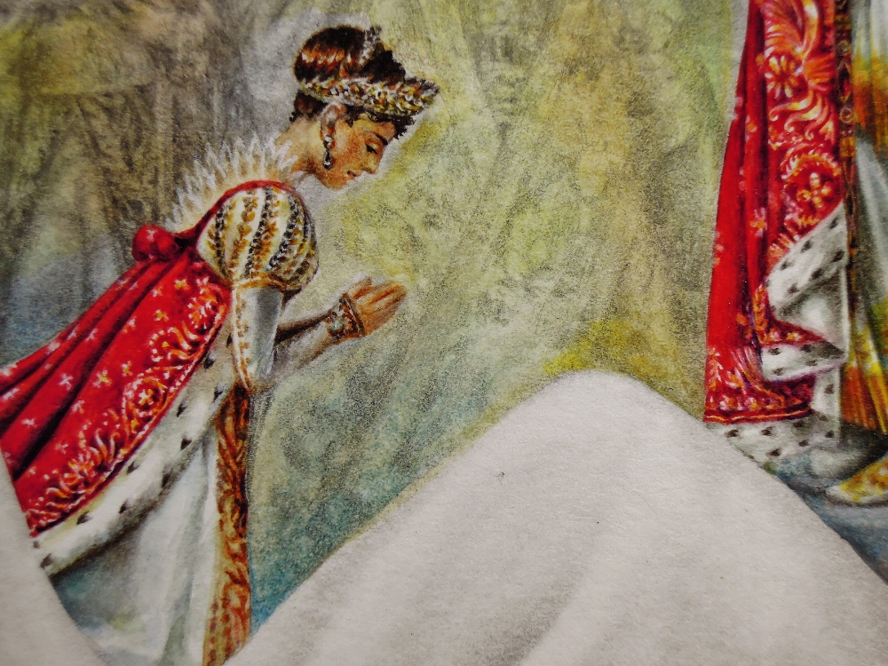 Bonaparte Bride: Crowned Thyself  (detail), 2018, watercolor and graphite on paper, 12.25 x 8.75 inches, $950. (unframed)