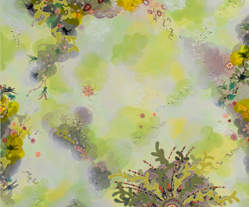 Molly McCracken,  Trailing Blossom , 2017, acrylic on canvas, 42 x 50 inches, $4700.