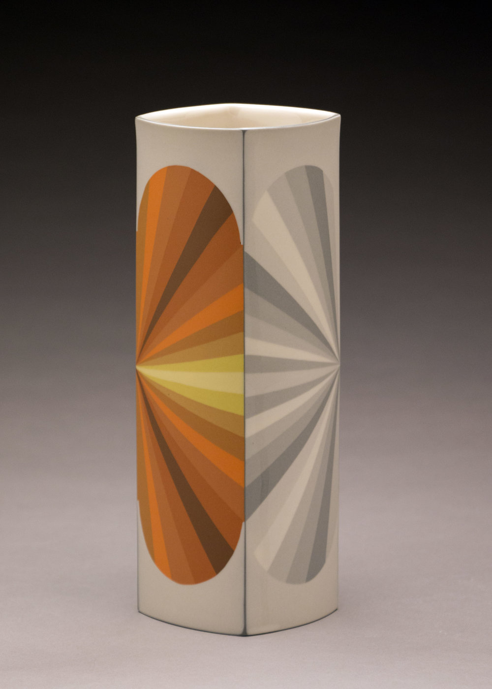 Peter Pincus,  Inversion Column  (side B), 2018, colored porcelain, 9.5 x 4 x 4 inches, $1800.