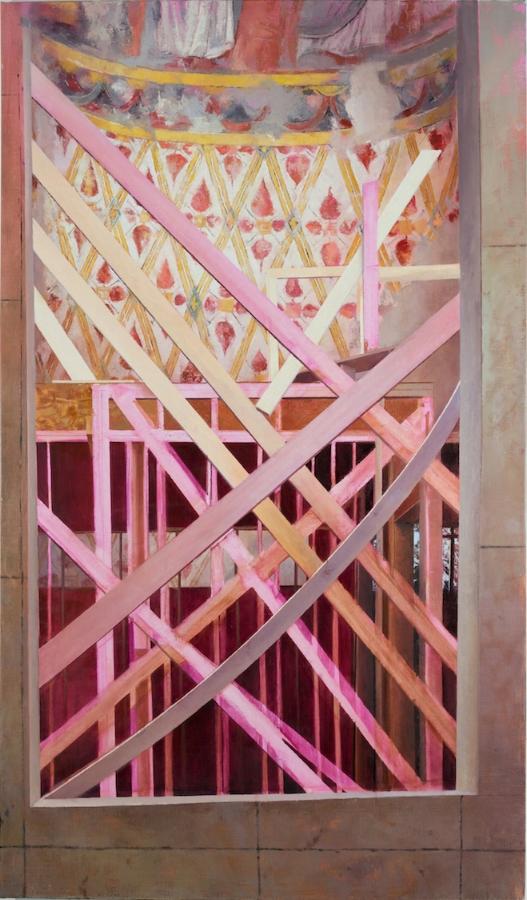 Laini Nemett,  Four-Cornered Dawn , 2015, oil on linen, 82 x 47.5 inches, $8200.