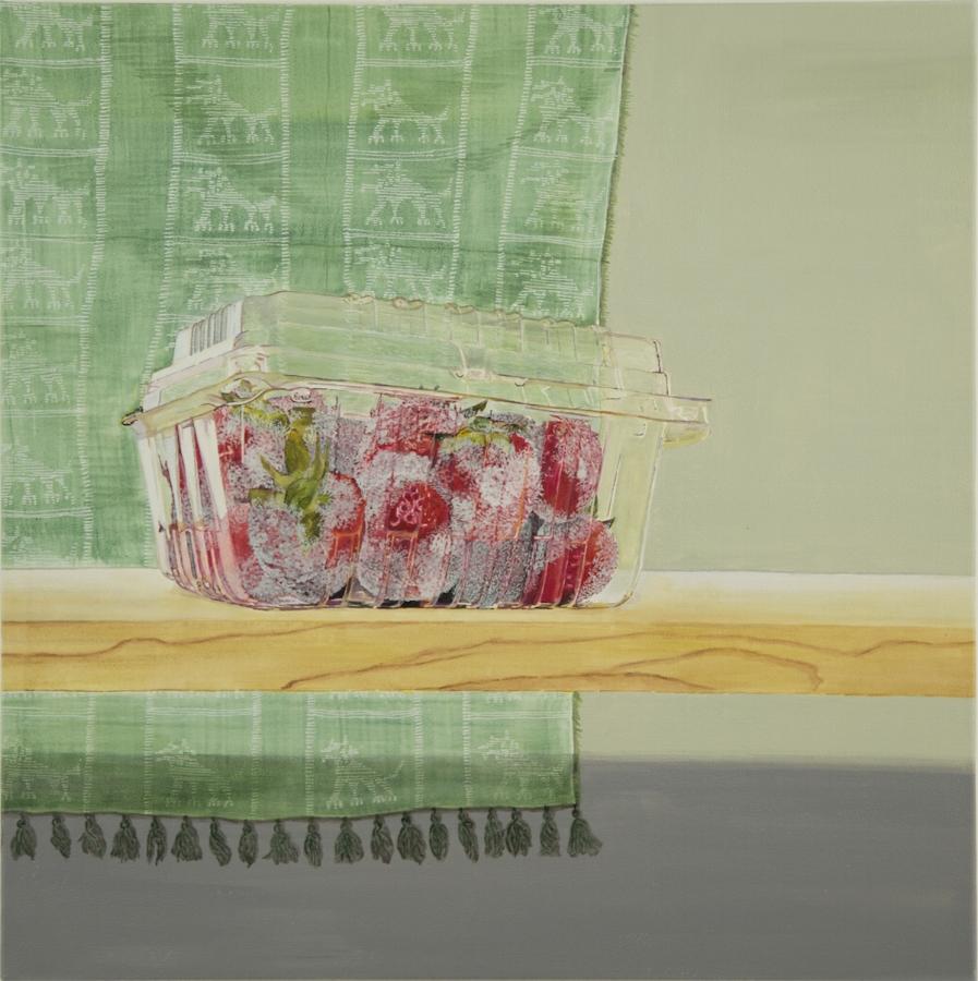 Rebecca Levitan,  Philosophia Perennis (II) , 2017, acrylic on canvas, 21.5 x 21.5 inches, $2500.