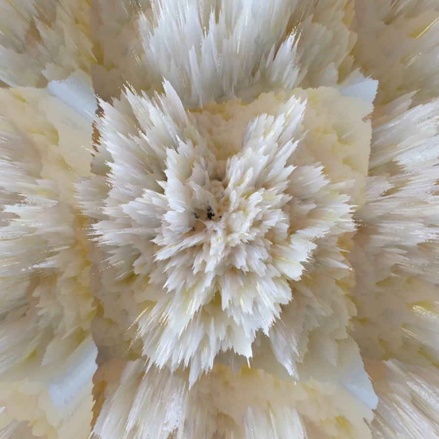 Alex Osborne,  ELECTRIC BURRATA , 2017, dye sublimation print on aluminum, 40 x 40 inches, edition 3/3, $3750.
