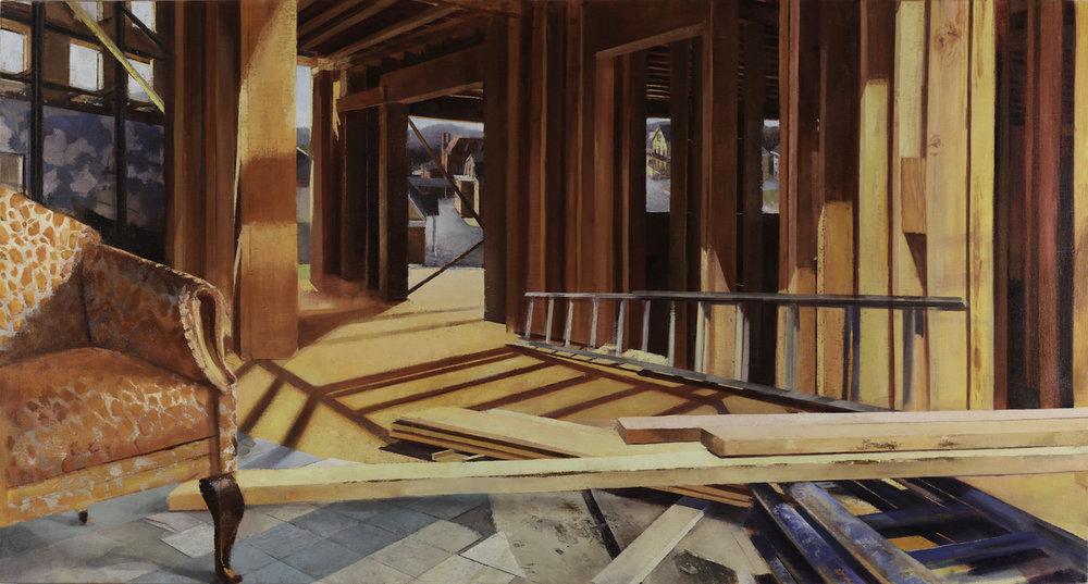 Laini Nemett,  Bergenfield , 2016, oil on linen, 41 x 76.5 inches, $7000.