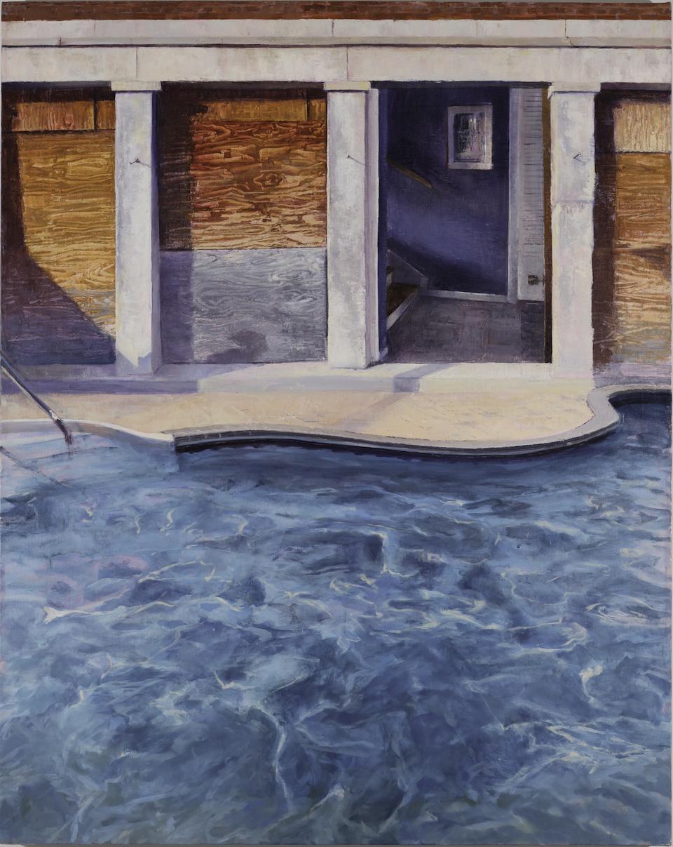 Laini Nemett,  28 Regent St , 2016, oil on linen, 37.75 x 30 inches, $2900.