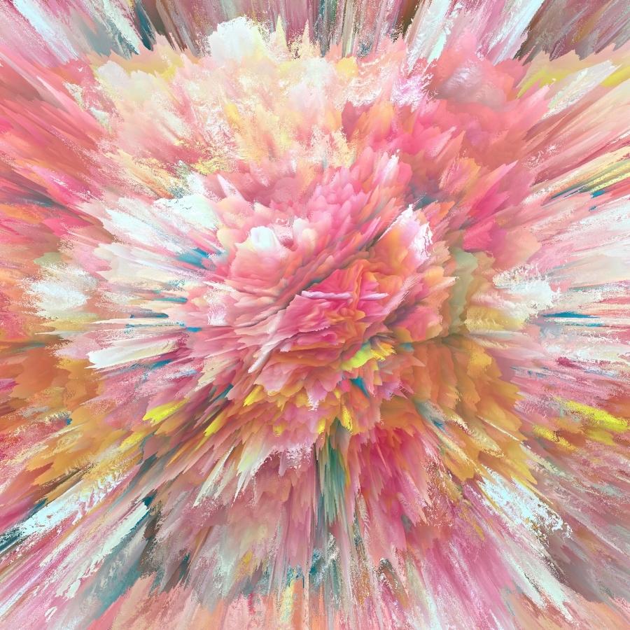 Alex Osborne,  STEPPING BACK , 2017, dye sublimation print on aluminum, 40 x 40 inches, edition 2/3, $3750.