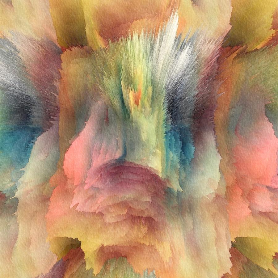 Alex Osborne,  LAYERS , 2017, dye sublimation print on aluminum, 40 x 40 inches, edition 2/3, $3750.